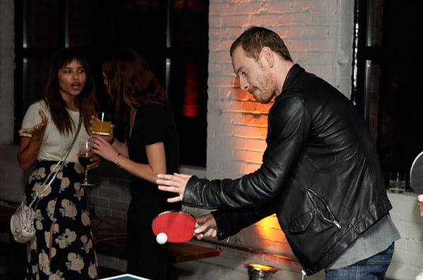 Michael Fassbender and girlfriend Zoe Kravitz were together enjoying the festivities of the Toronto International Film Festival last night. They attended the Weinstein party with the cast of Butter along with the movie's stars Jennifer Garner and Olivia Wilde. Zoe was by Michael's side while he attempted to play a game of ping-pong at Soho House, though he wasn't exactly a pro, according to eyewitnesses. Michael and Zoe partied together on Sunday as well at the vitaminwater party, and she accompanied him as he said hi to fellow actors like Matthew Goode. Michael's in Canada to promote his movie Shame, which just won him the best actor honor at the Venice Film Festival.
