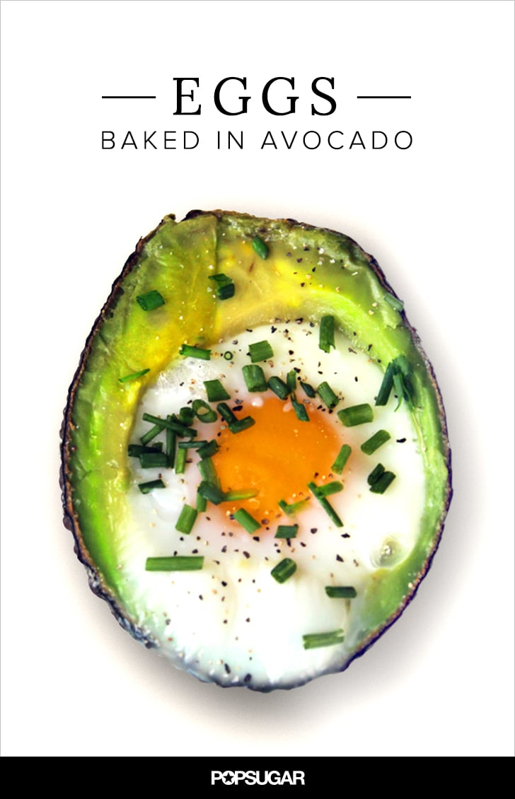 Baked Eggs in Avocado Recipe   POPSUGAR Fitness