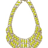 The collection's Bib Necklace ($70) will add a little glitz and color to everything from a basic work sheath to a great cocktail dress.