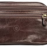 Maxwell Scott Bags Dark Brown Italian Leather Bum Bag Centolla
