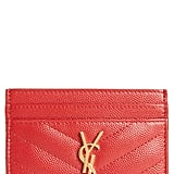 Saint Laurent Monogram Quilted Leather Credit Card Case