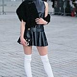 Sophie Turner at Paris Fashion Week in 2017