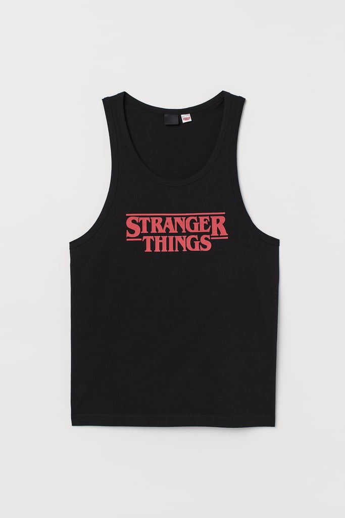 Stranger Things x H&M Tank Top With Printed Design