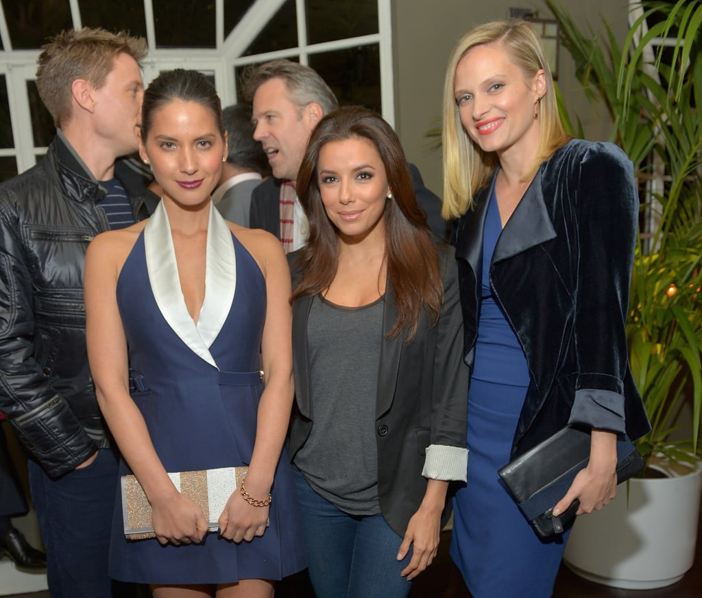 Eva Longoria and Olivia Munn posed with Vinessa Shaw.