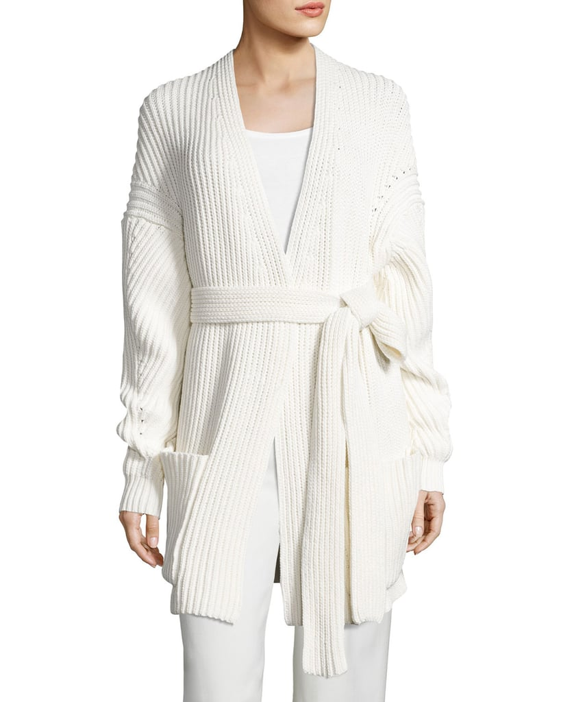White   Warren Cashmere Body Wrap ($385) | Wrap Sweater Shopping ...