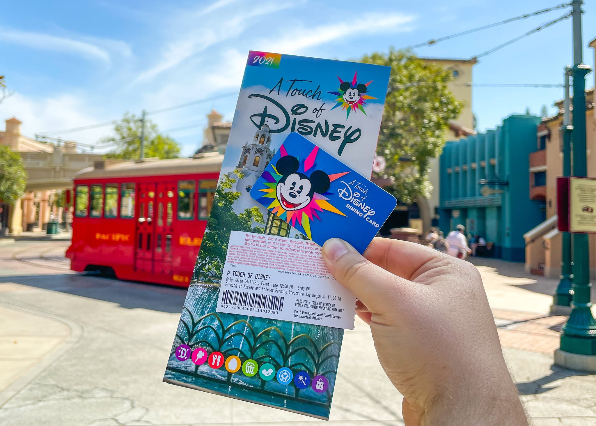 ANAHEIM, CA - APRIL 11: General views of Disney California Adventure Park at the Disneyland Resort, which has reopened for outdoor dining and shopping on April 11, 2021 in Anaheim, California.  (Photo by AaronP/Bauer-Griffin/GC Images)