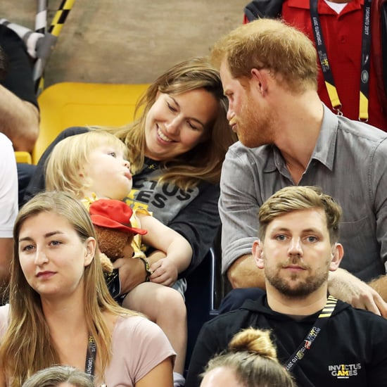 Prince Harry With Little Girl at Invictus Games 2017