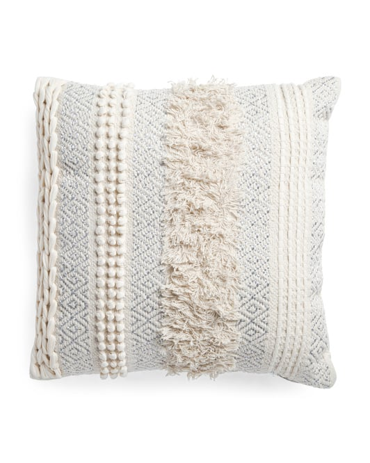 Made in India Jersey Loop Pillow