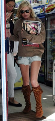 Kate Moss Boots, Moccasins, Fringed