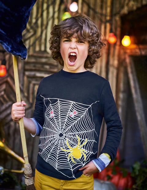 Mini Boden Spooky Glow Tee Halloween Clothes For Kids And Babies