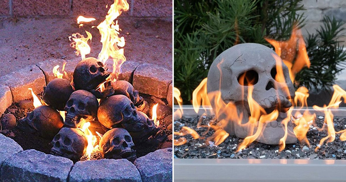 These Skull Fire Logs Are the Creepiest (and Coolest) Thing For Halloween Bonfires