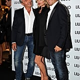 Marco Marchi, Kate Moss, and Vannis Marchi posed together.
