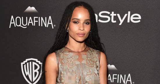 Zoe Kravitz Freed the Nipple at the Golden Globes Afterparty: Red Carpet Pics