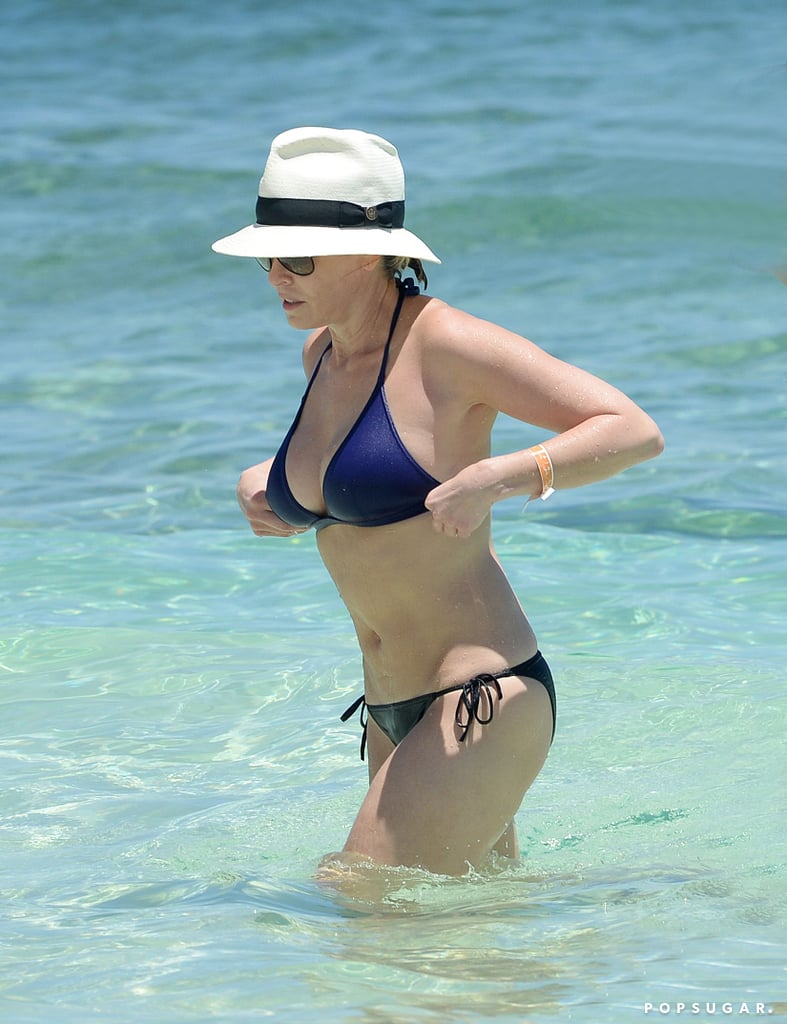 Chelsea Handler took a dip during her May 2015 vacation in the Bahamas.