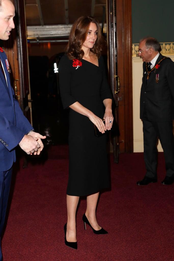 Kate Middleton Black Roland Mouret Dress November 2018 Popsugar