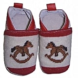 By Paige Needlepoint Rocking Horse Booties