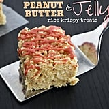 Peanut Butter and Jelly Rice Krispy Treats