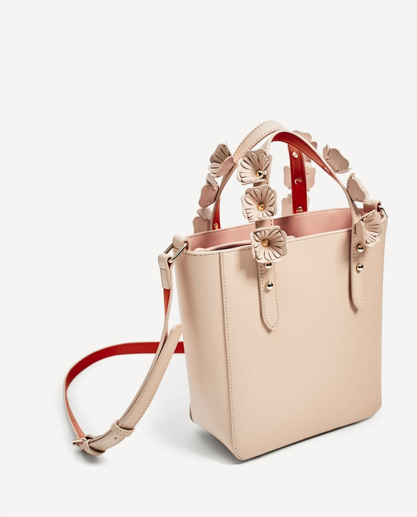 Mini leather tote bag zara - Zara Mini Totes Bag With Interchangeable Handles