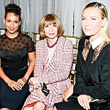 Anna Wintour got the company of Alicia Keys and Maria Sharapova at Jason Wu's show.