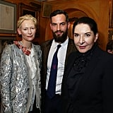 With Marina Abramovic.