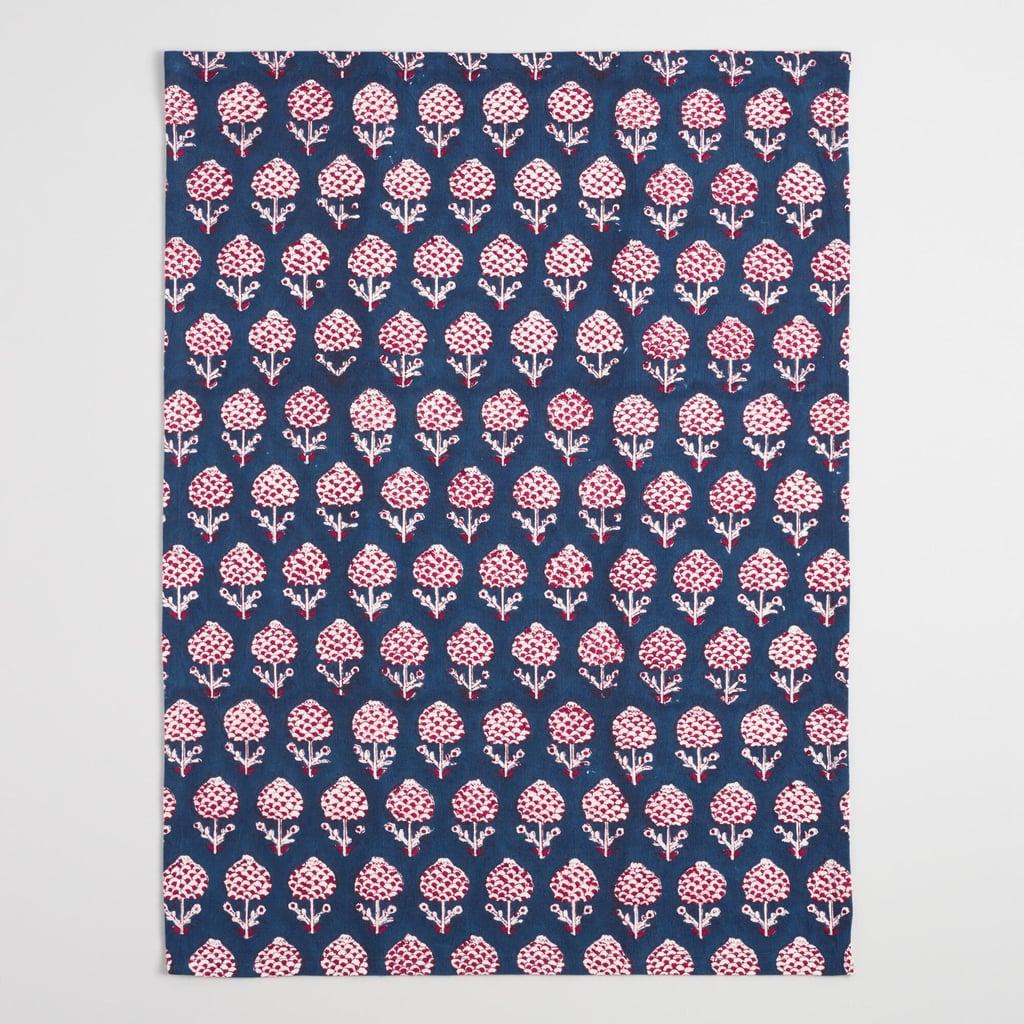 Red Bhuti Block Print Kitchen Towel ($8)