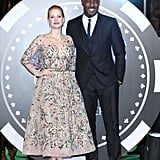 With Jessica Chastain, who is just under five feet, four inches tall.