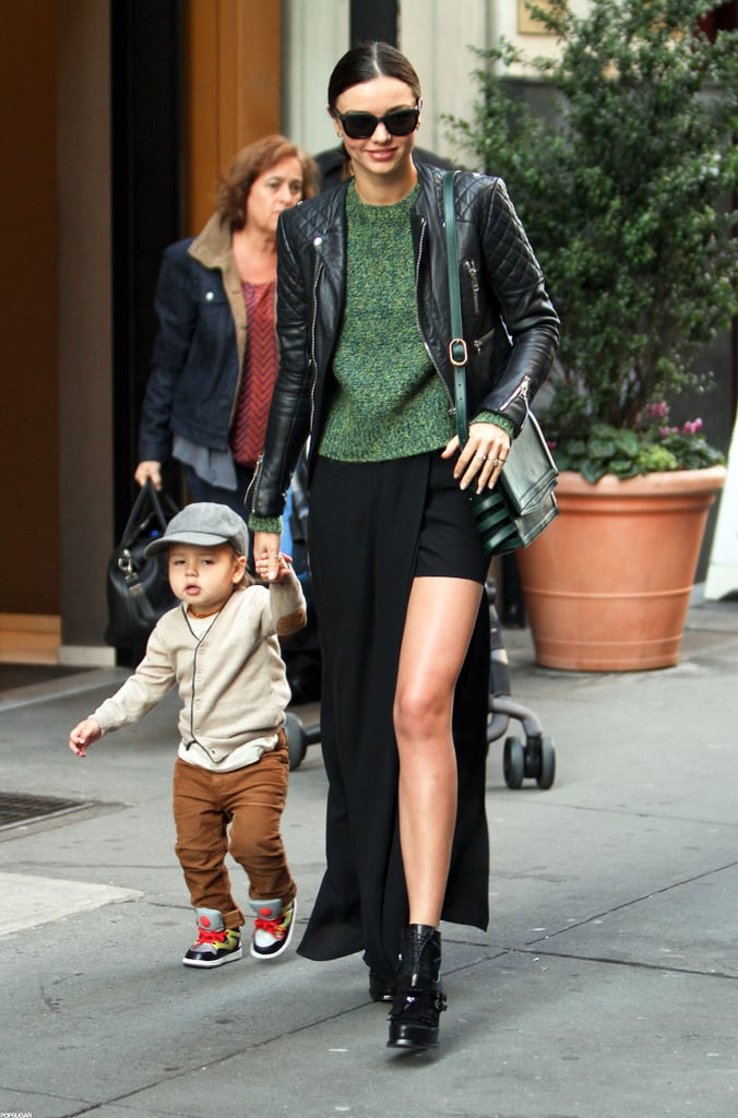 Miranda Kerr held hands with Flynn Bloom while out in NYC.