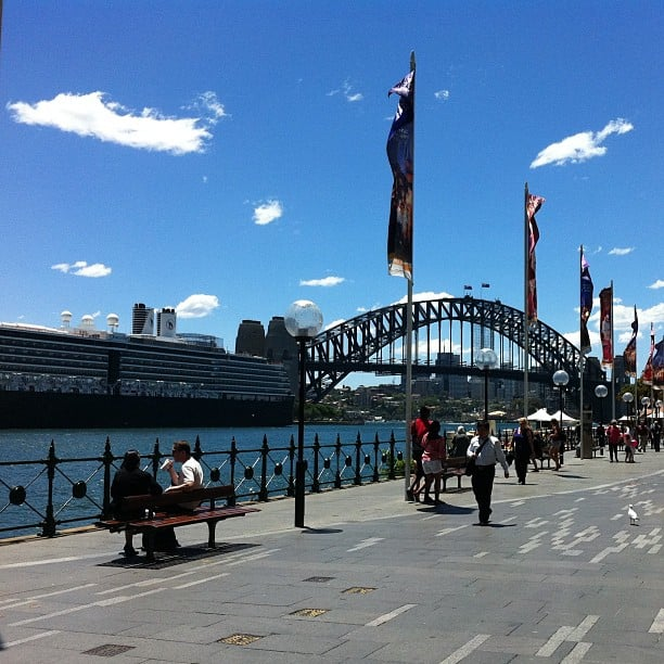 Sometimes the sky is so blue over the harbour, it doesn't even seem real! This was one of those days. #Luckycountry