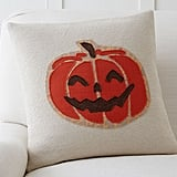 Jack-o'-Lantern Applique Pillow Cover