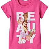 "Disney Beauty & The Beast Belle, Beast & Lumiere Girls ""Beauty"" Tee ($10, originally $18)"