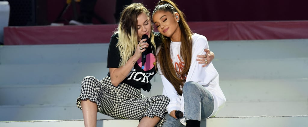 Miley Cyrus and Ariana Grande Promote Their New Singles