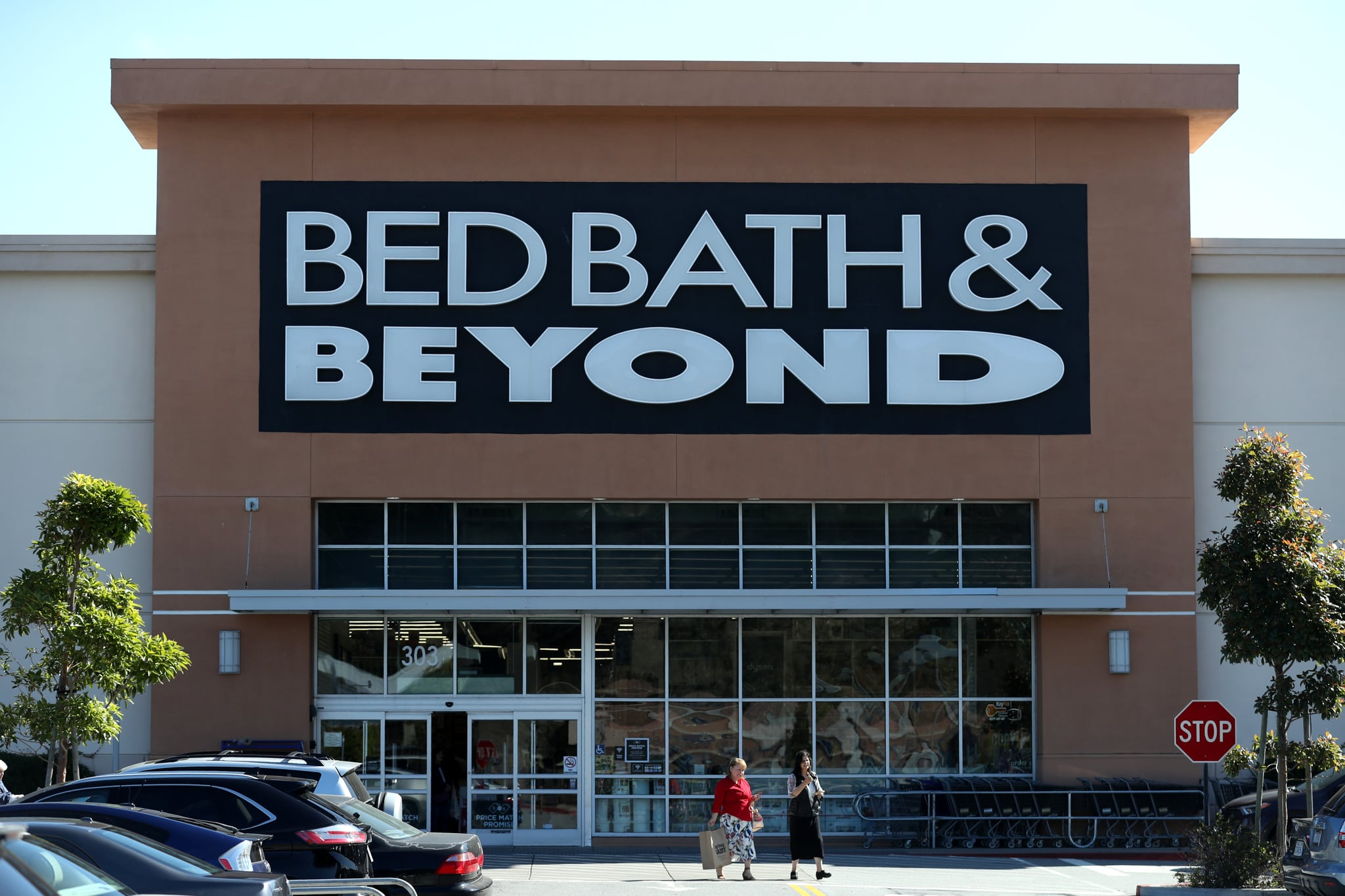 DALY CITY, CALIFORNIA - OCTOBER 03: A view of a Bed Bath and Beyond store on October 03, 2019 in Daly City, California. New Jersey based home goods retailer Bed Bath and Beyond announced that it plans to close 60 of its stores in the fiscal year, 20 more than previously announced in April of this year. (Photo by Justin Sullivan/Getty Images)
