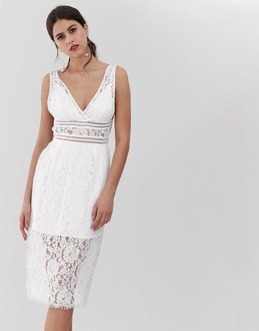 Y.A.S V-Neck Lace Midi Dress