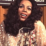 Donna Summer is totally '70s at the Billboard Music Awards in 1977.