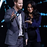 March: Harry brought Meghan onstage after making an impassioned speech about climate change at We Day UK.