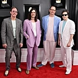Rivers Cuomo, Patrick Wilson, Brian Bell, and Scott Shriner of Weezer at the 2019 Grammy Awards