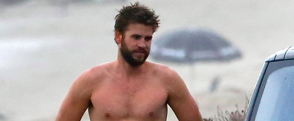 Liam Hemsworth Catches Waves in Malibu After Miley Confirms Their Engagement