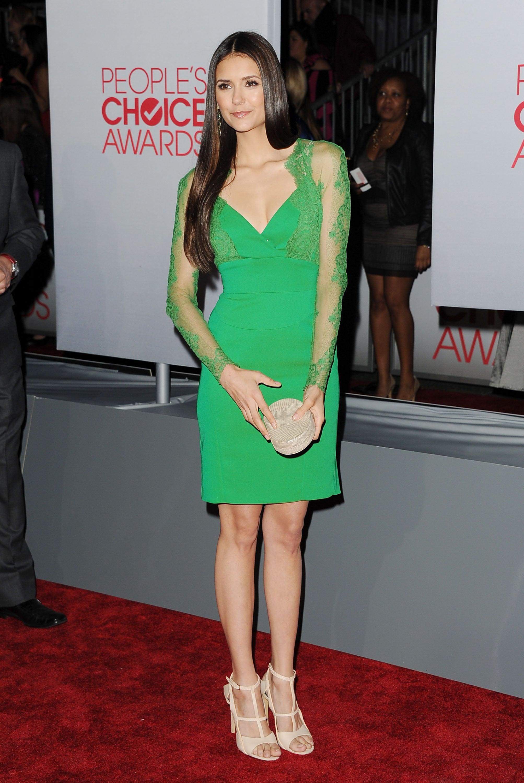 Nina Dobrev was in LA for the People's Choice Awards.