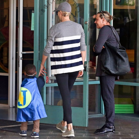 Charlize Theron's Son in a Cape at the Gym