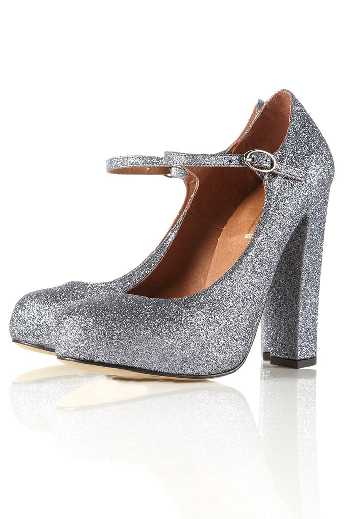 Topshop Gosford Multi Glitter Mary Jane Heels ($120)