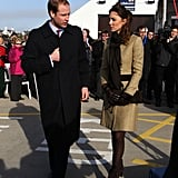 Prince William and Kate Middleton Christen Lifeboat on First Official Engagement
