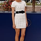 At the 2007 Master of Ceremonies photocall, Diane looked superchic in a belted white Chanel dress.
