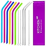 Silicone Straws and Stainless Steel Straws Bundle