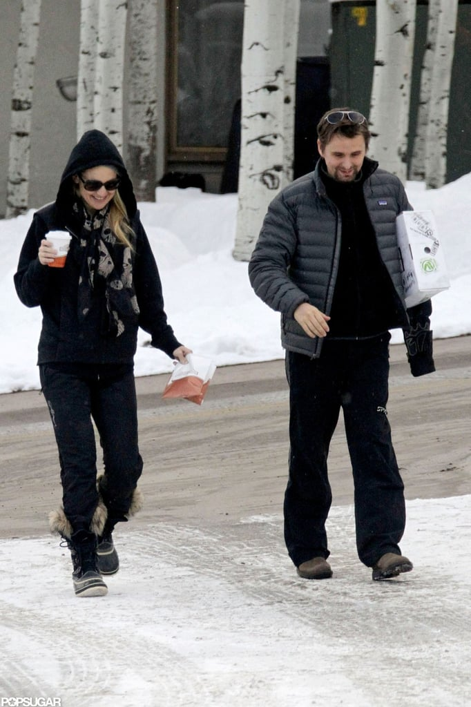 Kate Hudson and Matthew Bellamy went out in Aspen.