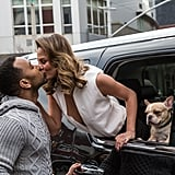 John and Chrissy showed sweet PDA — alongside their dog Pippa — for a photo shoot in NYC in December 2014.