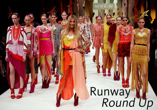 Pictures of Jennifer Hawkins and Runway Models at Myer Spring Summer Collection Launch Fashion Show in Sydney