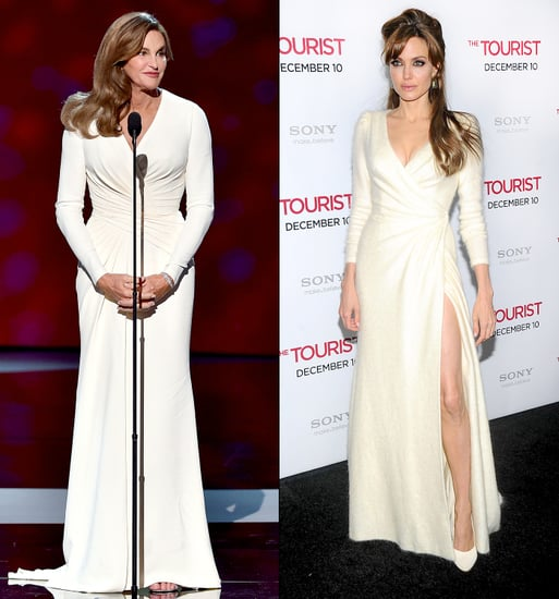 Caitlyn Jenner's ESPYS 2015 Dress Is Nearly Identical to Angelina Jolie's 2010 Look: Who Wore It Best?