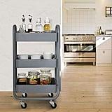 DOEWORKS Metal Rolling Storage Cart