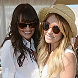 Lea Michele and Lauren Conrad