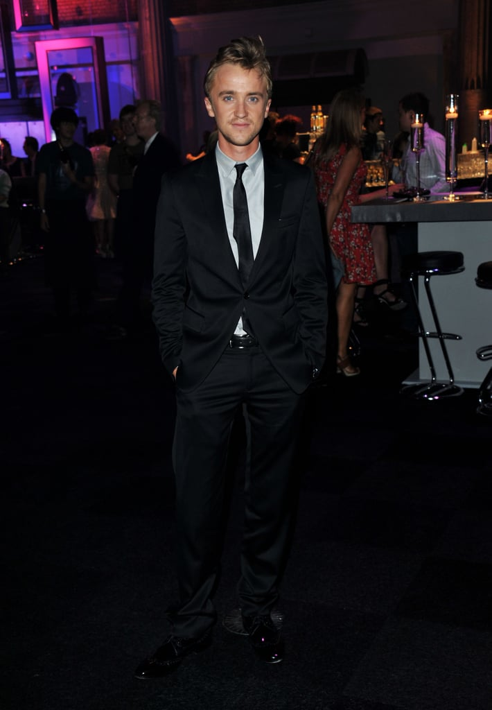 Tom Felton looked dapper in a suit.